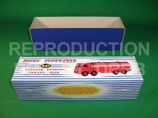 Dinky #943 Leyland Octopus Tanker - 'Esso' - Reproduction Box